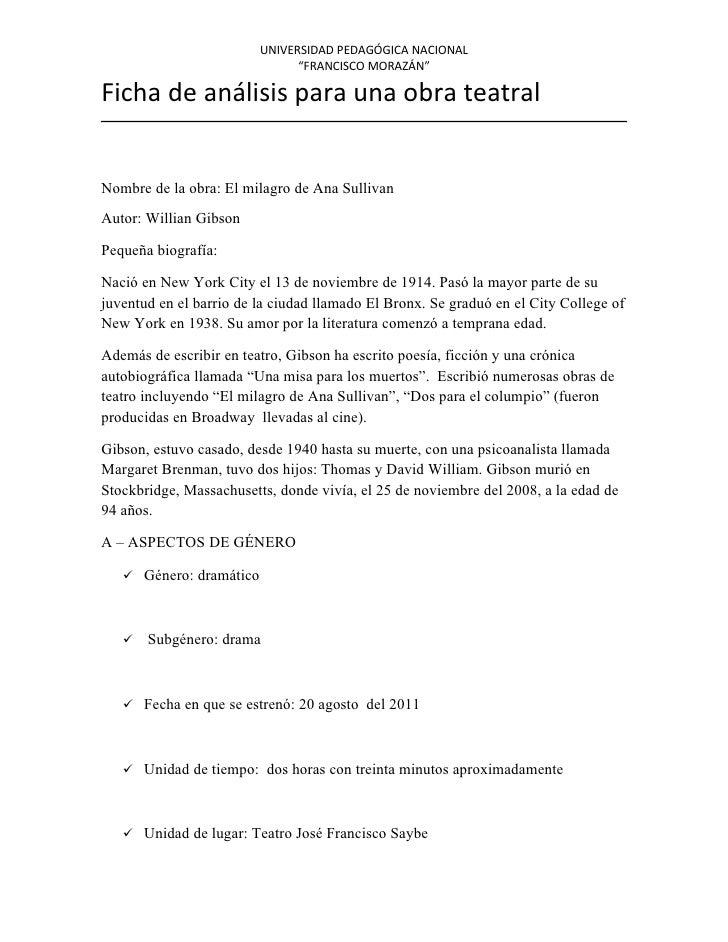 Ficha de análisis el milagro de ana sullivan