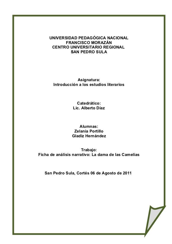 UNIVERSIDAD PEDAGÓGICA NACIONAL            FRANCISCO MORAZÁN      CENTRO UNIVERSITARIO REGIONAL              S            ...