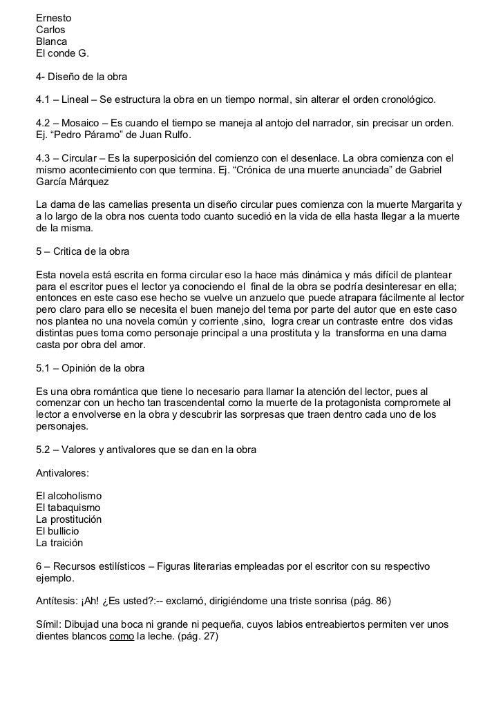 ErnestoCarlosBlancaEl conde G.4- Diseño de la obra4.1 – Lineal – Se estructura la obra en un tiempo normal, sin alterar el...