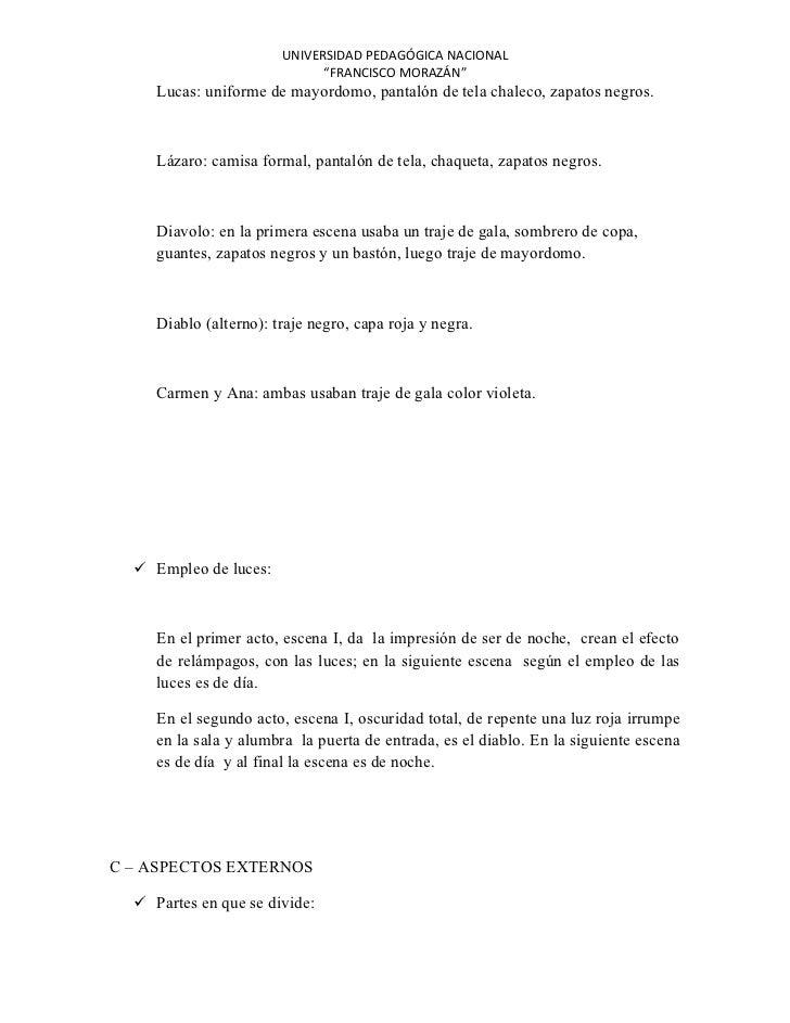 """UNIVERSIDAD PEDAGÓGICA NACIONAL                              """"FRANCISCO MORAZÁN""""     Lucas: uniforme de mayordomo, pantaló..."""