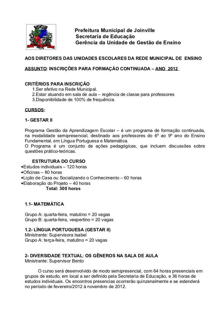 Ficha de inscrição cursos