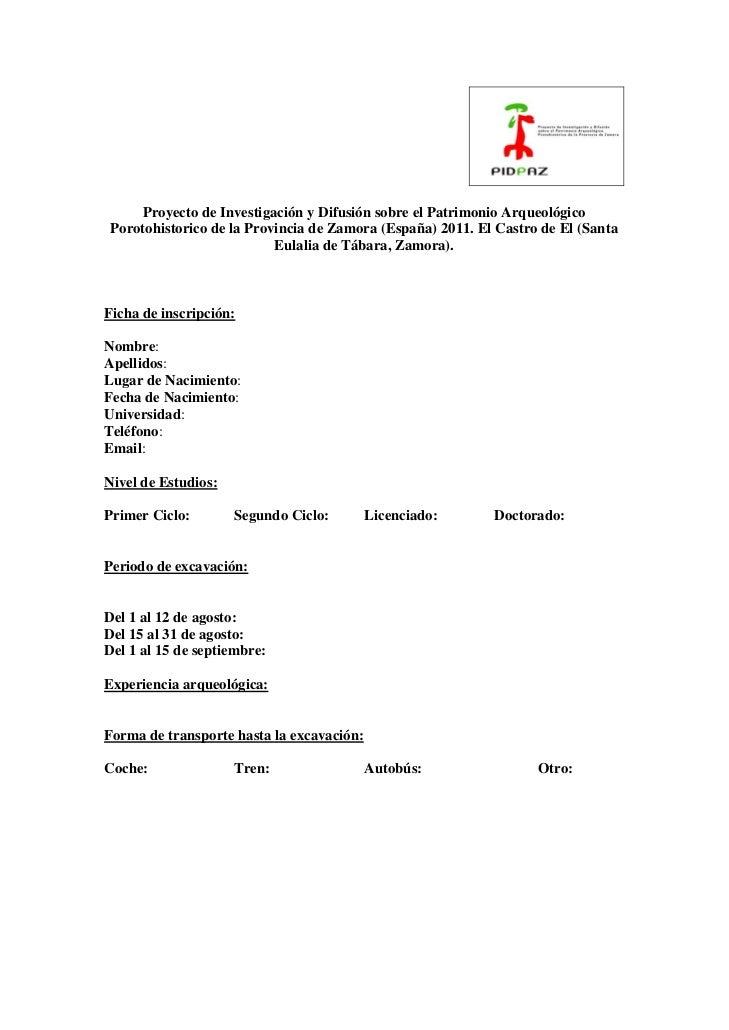 Proyecto de Investigación y Difusión sobre el Patrimonio ArqueológicoPorotohistorico de la Provincia de Zamora (España) 20...