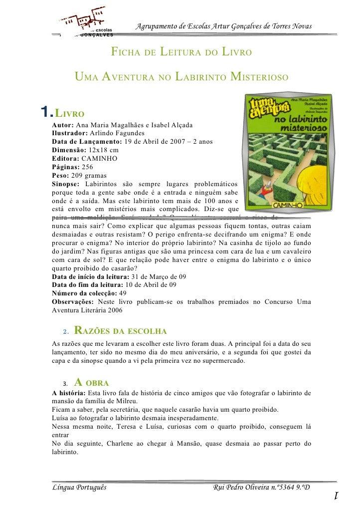 Agrupamento de Escolas                              Agrupamento de Escolas Artur Gonçalves de Torres Novas    AR T UR GO N...