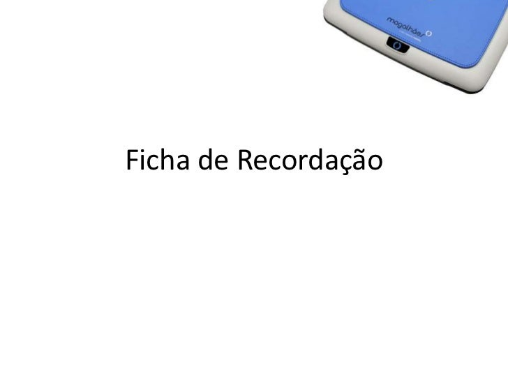 Ficha de Recordação<br />