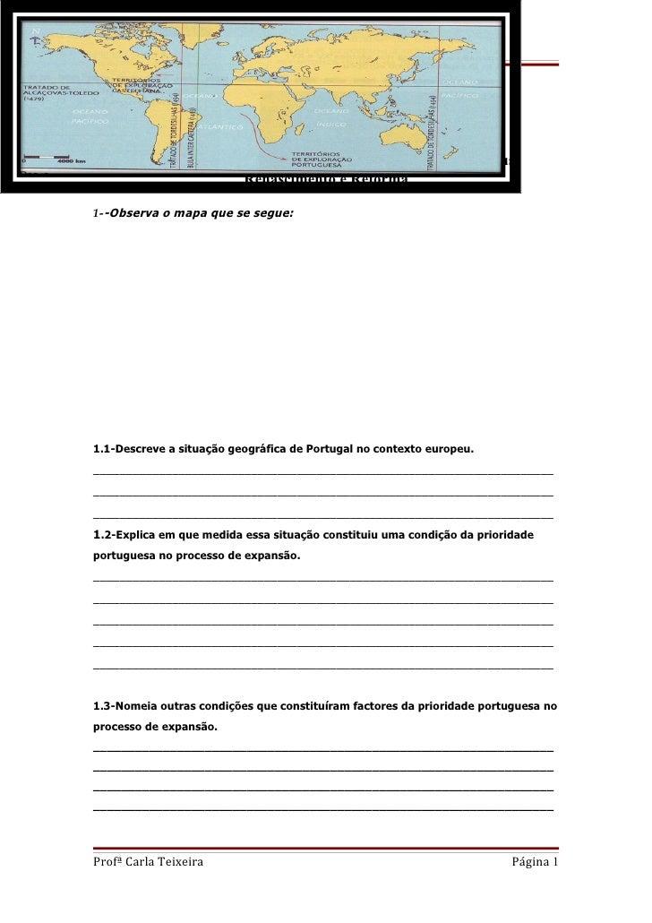Escola E B 2,3 de São João da Madeira                          FICHA DE REVISÕES                           HISTÓRIA- 8º AN...