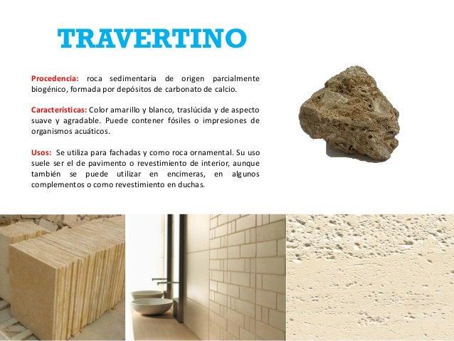 Ficha de rocas jose estevez 12 0625 for Travertino roca