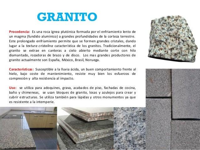 Ficha de rocas jose estevez 12 0625 - Propiedades del granito ...