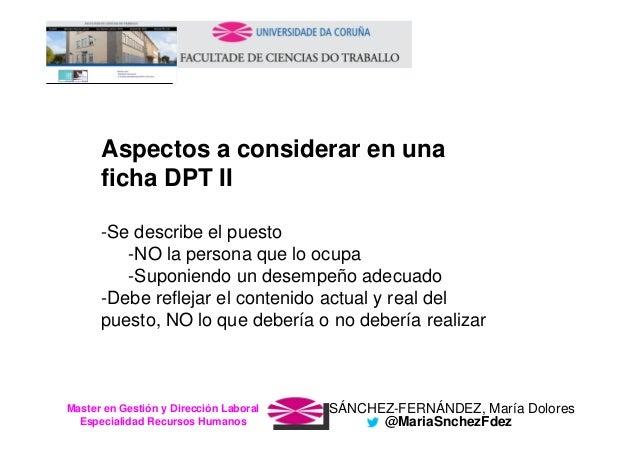 SÁNCHEZ-FERNÁNDEZ, María DoloresMaster en Gestión y Dirección Laboral Especialidad Recursos Humanos @MariaSnchezFdez Aspec...