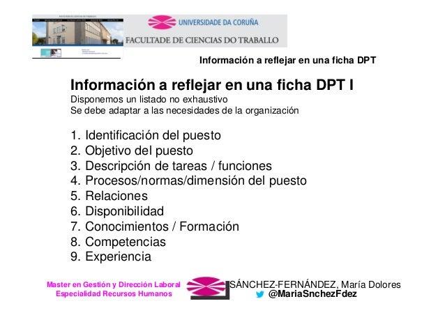 SÁNCHEZ-FERNÁNDEZ, María DoloresMaster en Gestión y Dirección Laboral Especialidad Recursos Humanos @MariaSnchezFdez Infor...