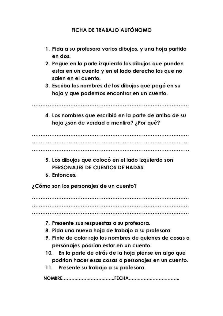Ficha de trabajo autónomo nª 3