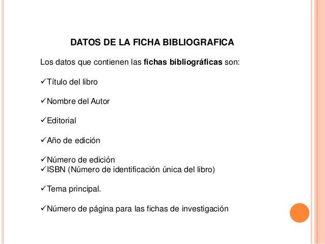 Ejemplo De Investigacion Bibliografica - Image Mag