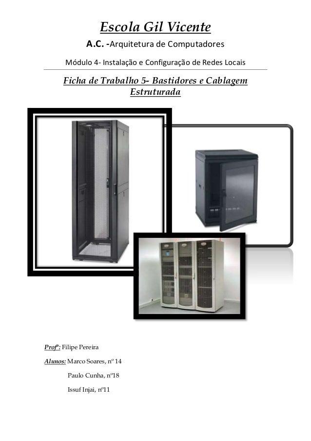 Escola Gil VicenteA.C. -Arquitetura de ComputadoresMódulo 4- Instalação e Configuração de Redes LocaisFicha de Trabalho 5-...