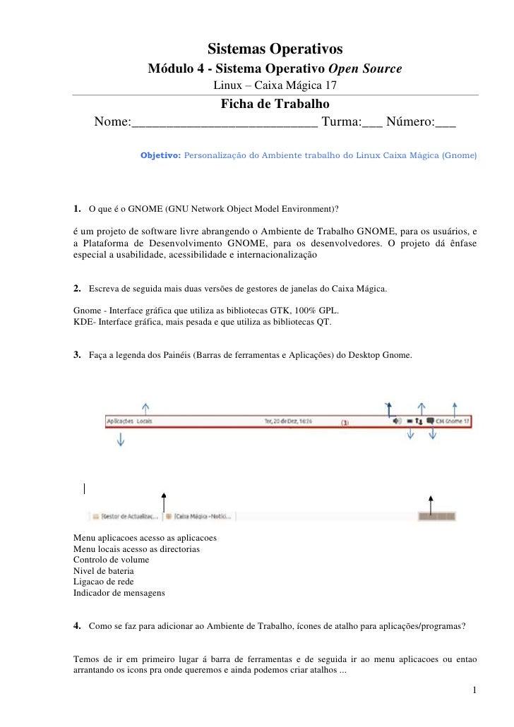 Sistemas Operativos                   Módulo 4 - Sistema Operativo Open Source                                   Linux – C...