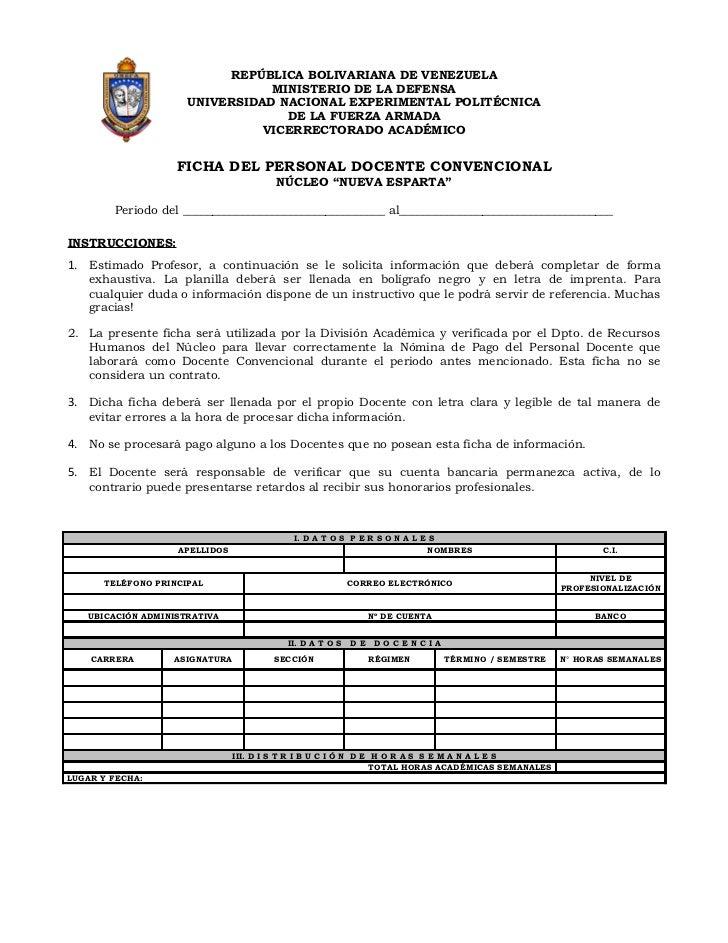 REPÚBLICA BOLIVARIANA DE VENEZUELA                                MINISTERIO DE LA DEFENSA                     UNIVERSIDAD...