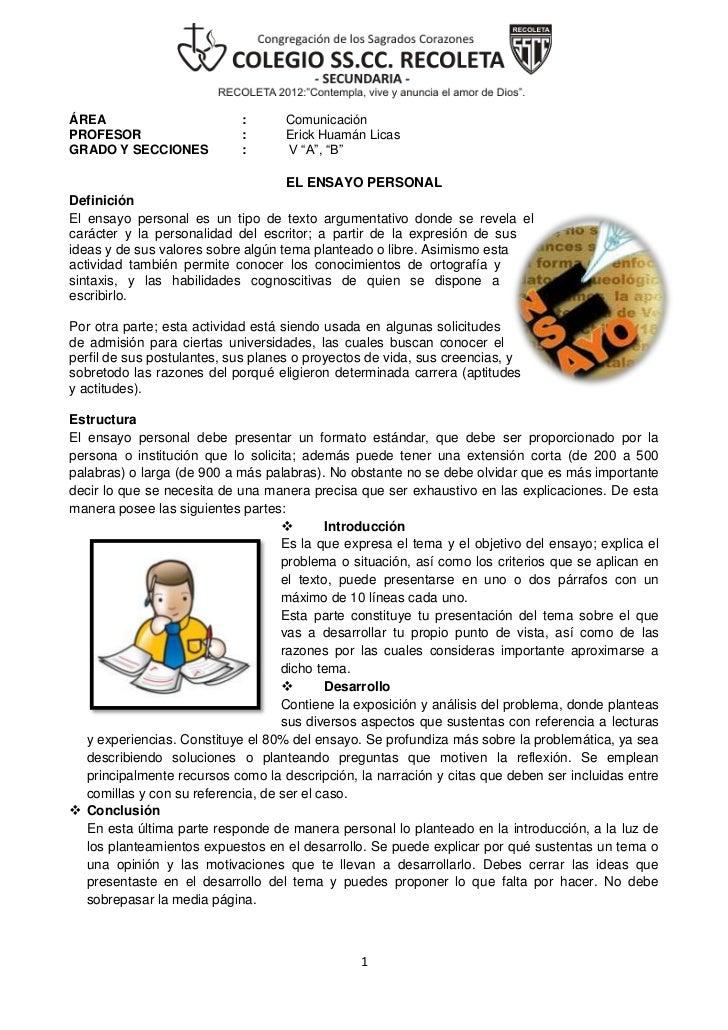 ÁREA                        :      ComunicaciónPROFESOR                    :      Erick Huamán LicasGRADO Y SECCIONES     ...