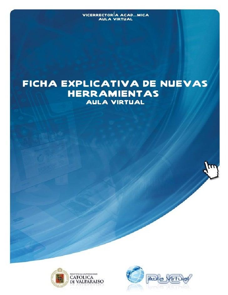 Ficha Explicativa Nuevas Herramientas Aula Virtual