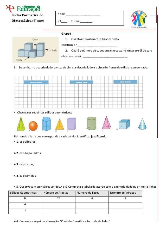 Ficha Formativa de Matemática (5º Ano) Grupo I 1. Quantoscubosforam utilizadosnesta construção?___________________________...