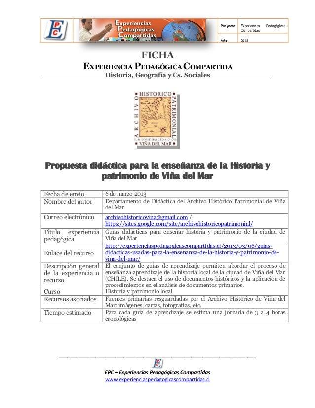 Proyecto   Experiencias   Pedagógicas                                                                              Compart...