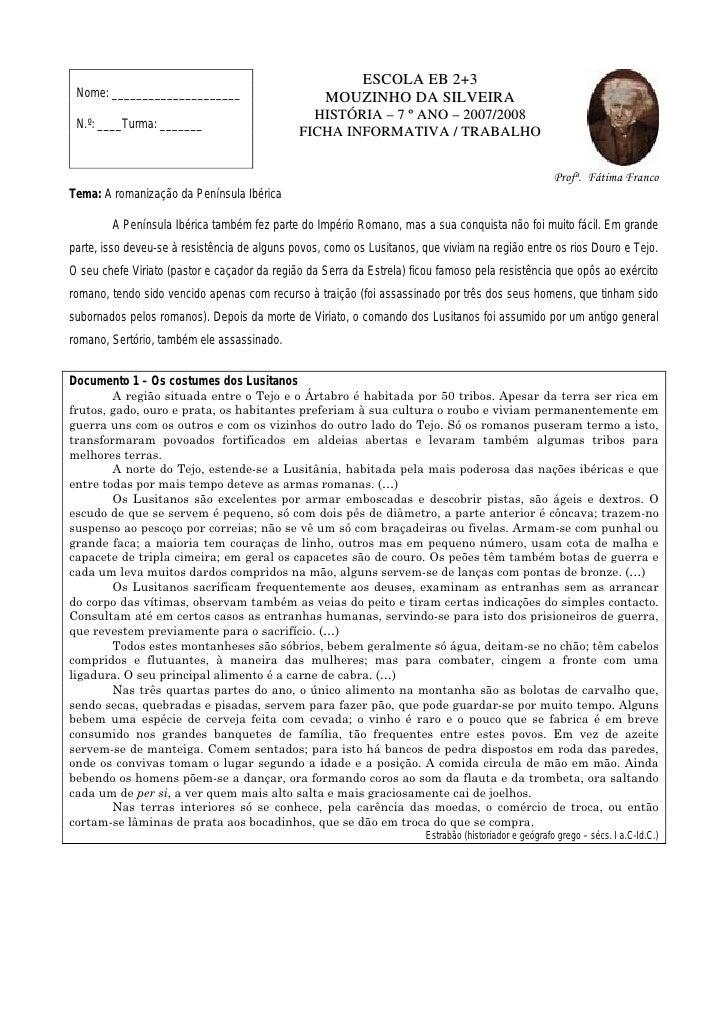 ESCOLA EB 2+3  Nome: _____________________                       MOUZINHO DA SILVEIRA                                     ...