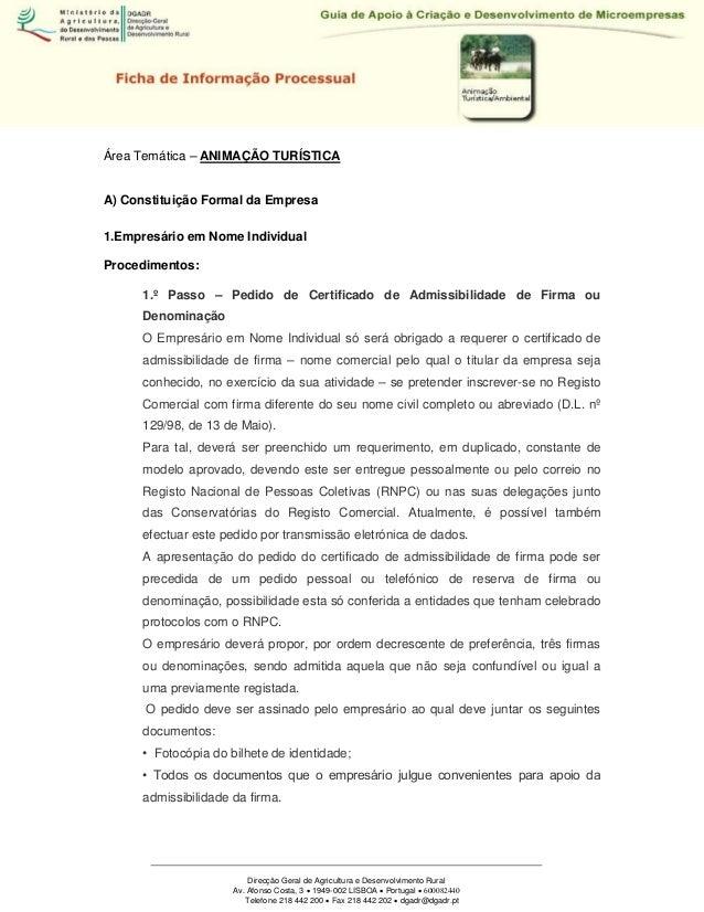 Direcção Geral de Agricultura e Desenvolvimento Rural Av. Afonso Costa, 3  1949-002 LISBOA  Portugal  600082440 Telefon...