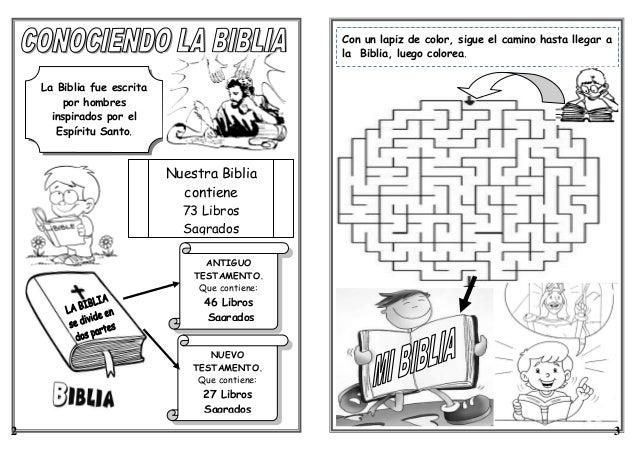 FICHA: LA BIBLIA 1° Y 2° GRADO DE PRIMARIA
