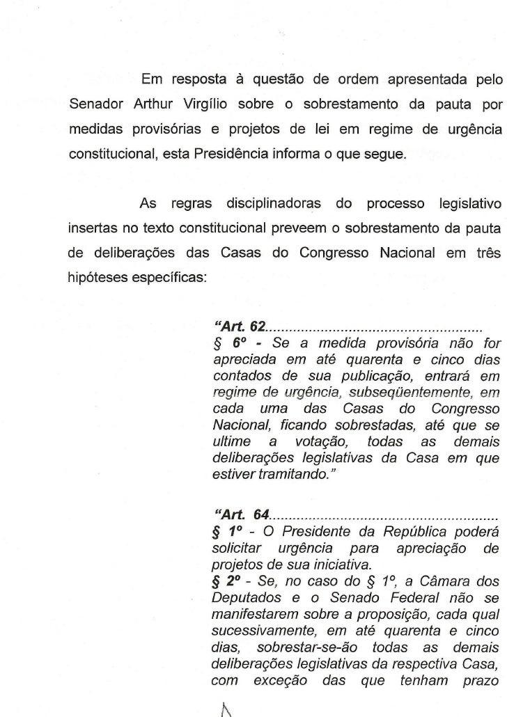 Projeto Ficha limpa - Parecer de Marconi Perillo