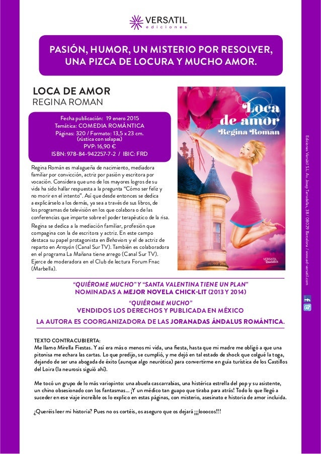 """Ediciones Versátil S.L. Av. Josep Tarradellas, 38 / 08029 Barcelona / www.ed-versatil.com  """"QUIÉROME MUCHO"""" Y """"SANTA VALEN..."""