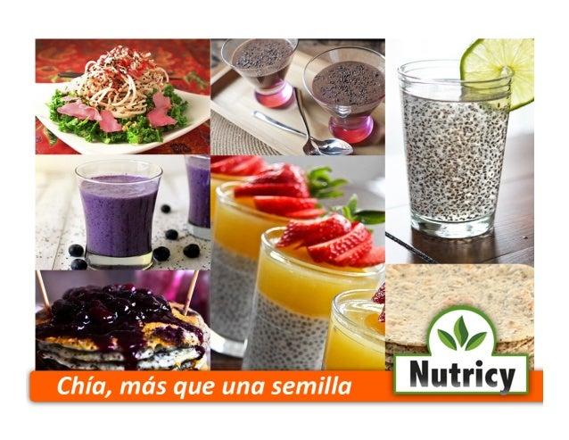 ¿Qué es Nutricy? Nutricy es una empresa mexicana dedicada a la comercialización de semilla de chía (Salvia Hispánica), ade...