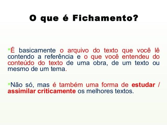 Fichamento de Texto Slide 3