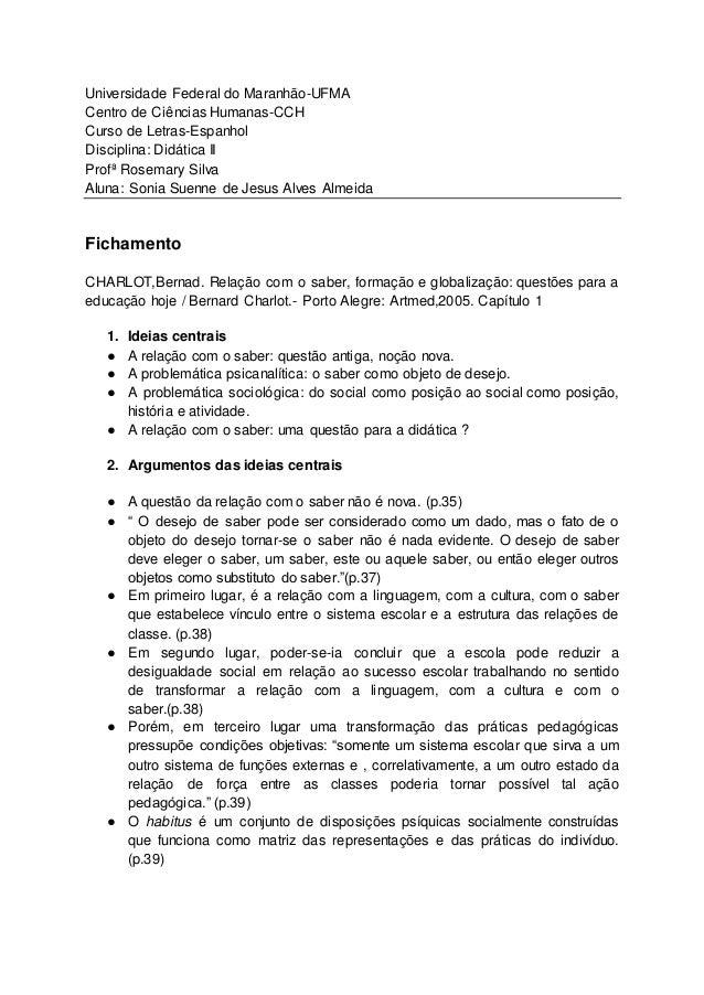 Universidade Federal do Maranhão-UFMA Centro de Ciências Humanas-CCH Curso de Letras-Espanhol Disciplina: Didática II Prof...