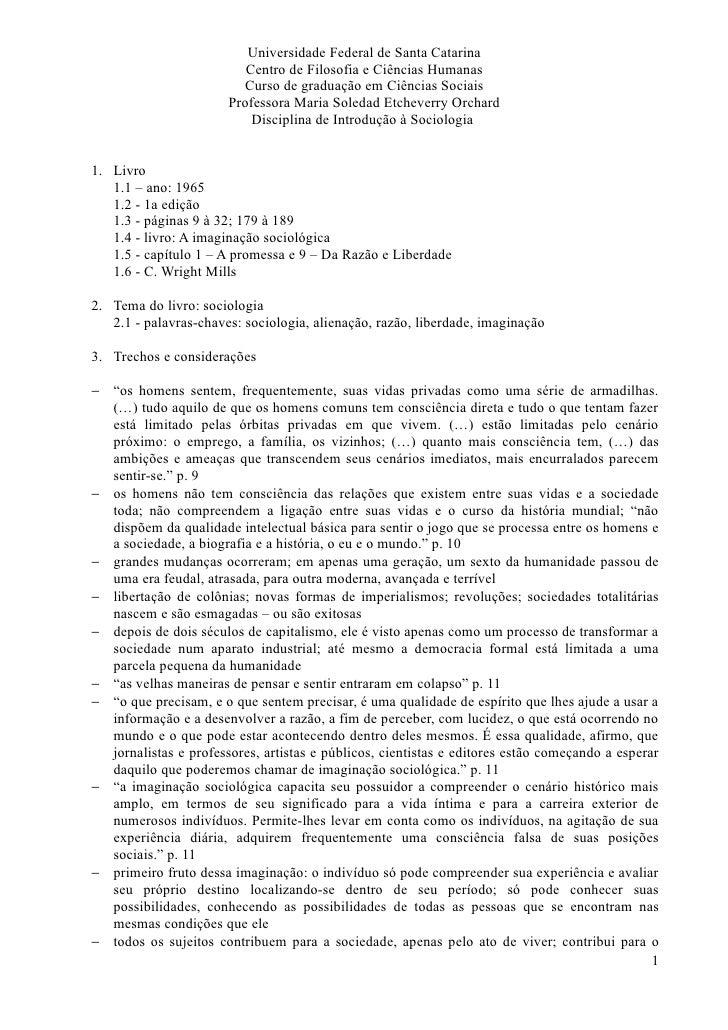 Universidade Federal de Santa Catarina                           Centro de Filosofia e Ciências Humanas                   ...