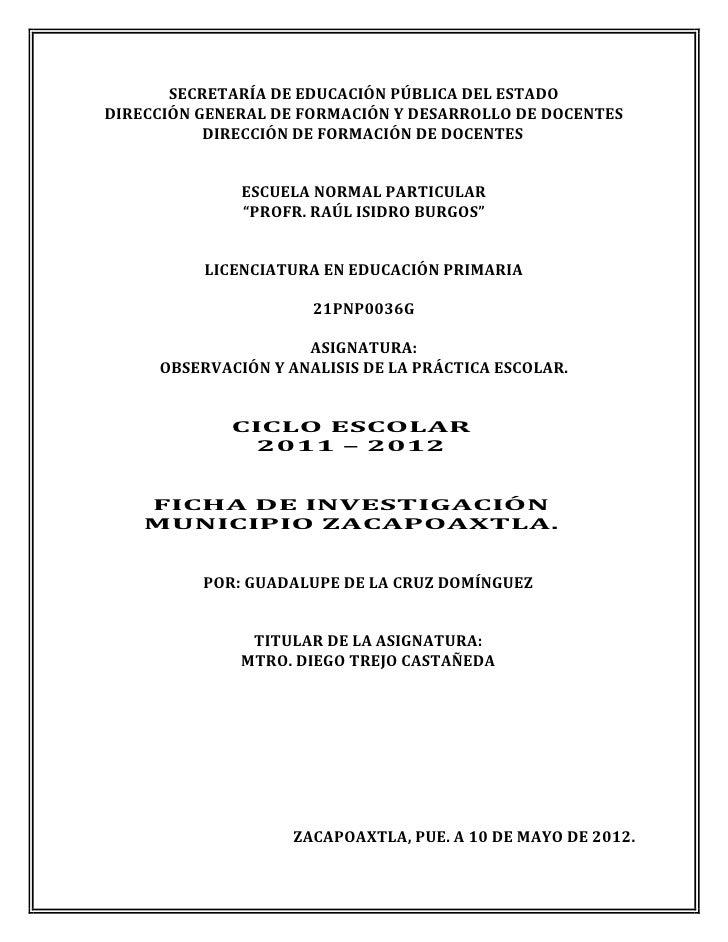 SECRETARÍA DE EDUCACIÓN PÚBLICA DEL ESTADODIRECCIÓN GENERAL DE FORMACIÓN Y DESARROLLO DE DOCENTES           DIRECCIÓN DE F...