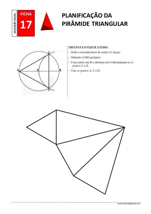 Ficha nº 17 planificação piramide triangular