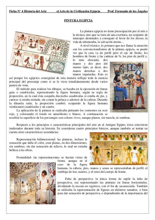 dd3e3755534 Ficha N° 4 Historia del Arte el Arte de la Civilización Egipcia Prof.