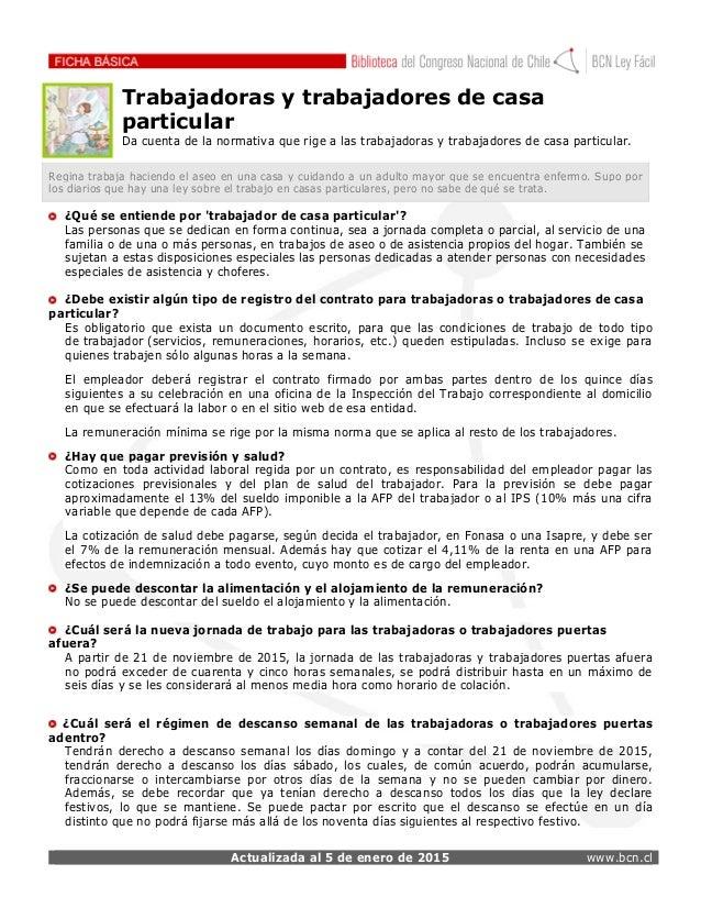 Ficha nueva ley trabajadores as de casa particular for Trabajo jardinero