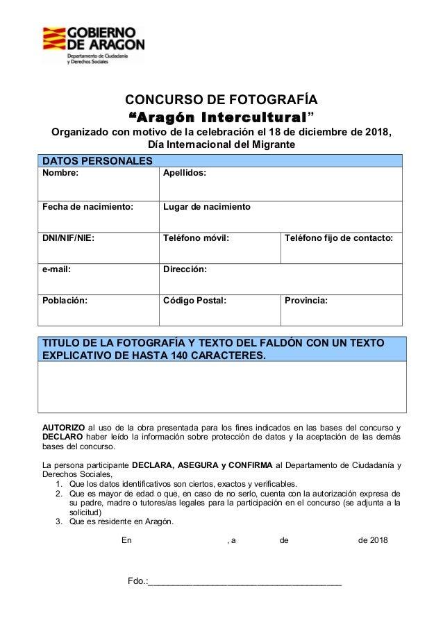 """CONCURSO DE FOTOGRAFÍA """"Aragón Intercultural"""" Organizado con motivo de la celebración el 18 de diciembre de 2018, Día Inte..."""