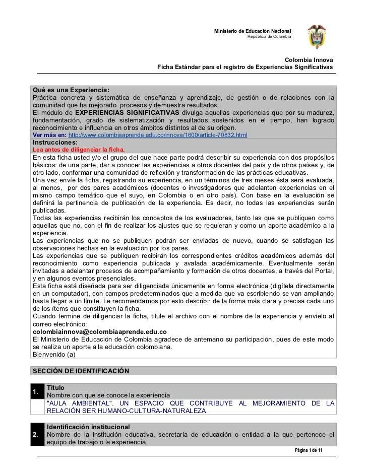Ministerio de Educación Nacional                                                                               República d...