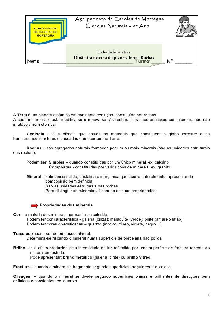 Agrupamento de Escolas de Mortágua                                        Ciências Naturais – 8º Ano           AGRUPAMENTO...