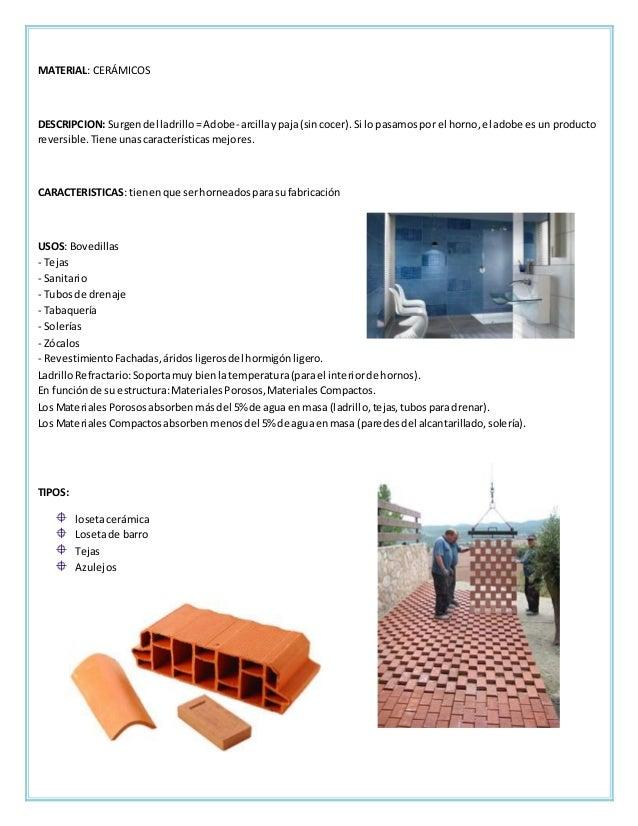 Fichas tecnicas acabados en pisos for Materiales para hacer un piso