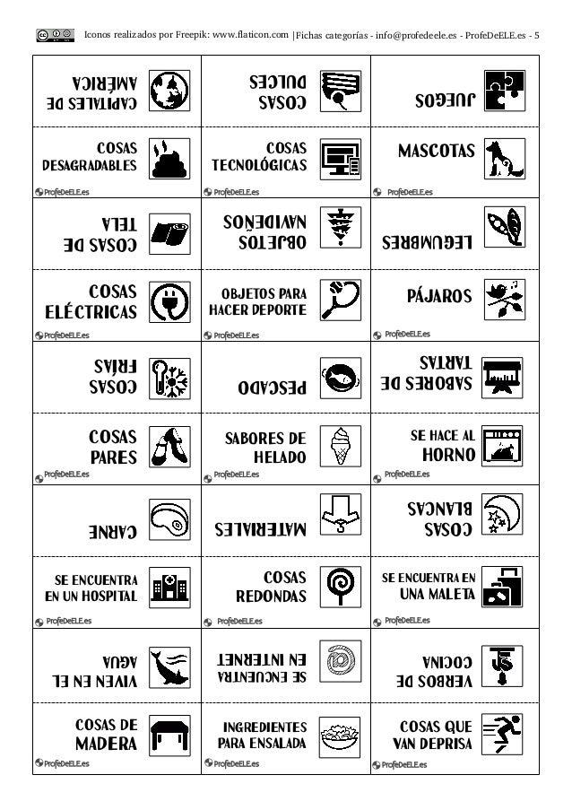  Fichascategoríasinfo@profedeele.esProfeDeELE.es5 CapitaLEsde aMériCa Cosas duLces juegos Cosas desaGradaBles ...