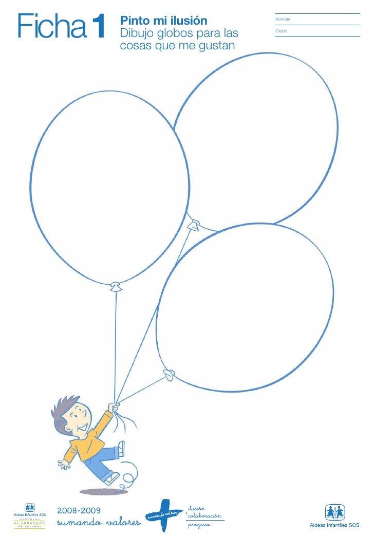 Ficha 1                     Pinto mi ilusión                            Dibujo globos para las                            ...