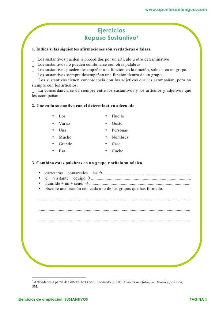 www.apuntesdelengua.com                                                       Ejercicios                                  ...