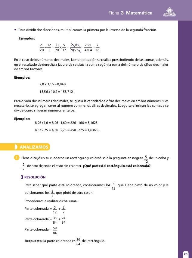 Fichas 1 al 10 tomo1 matematica