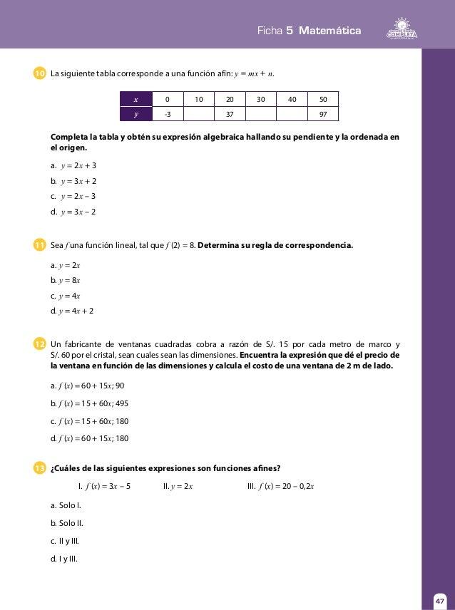 Perfecto Grado 10 Matemáticas Funciones Hojas De Trabajo ...