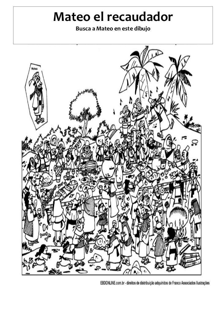 Mateo el recaudador   Busca a Mateo en este dibujo