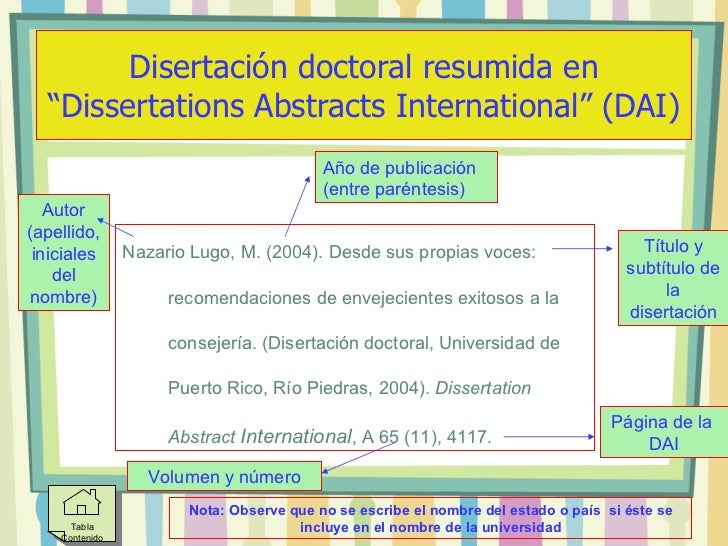 Dissertation abstracts international dai