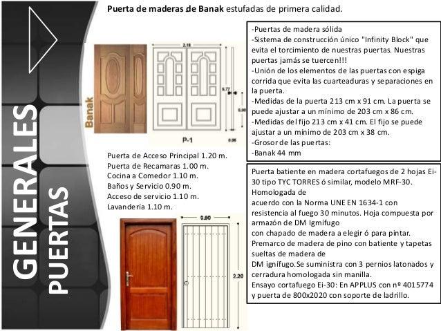 Fichas de acabados for Descripcion de puertas de madera