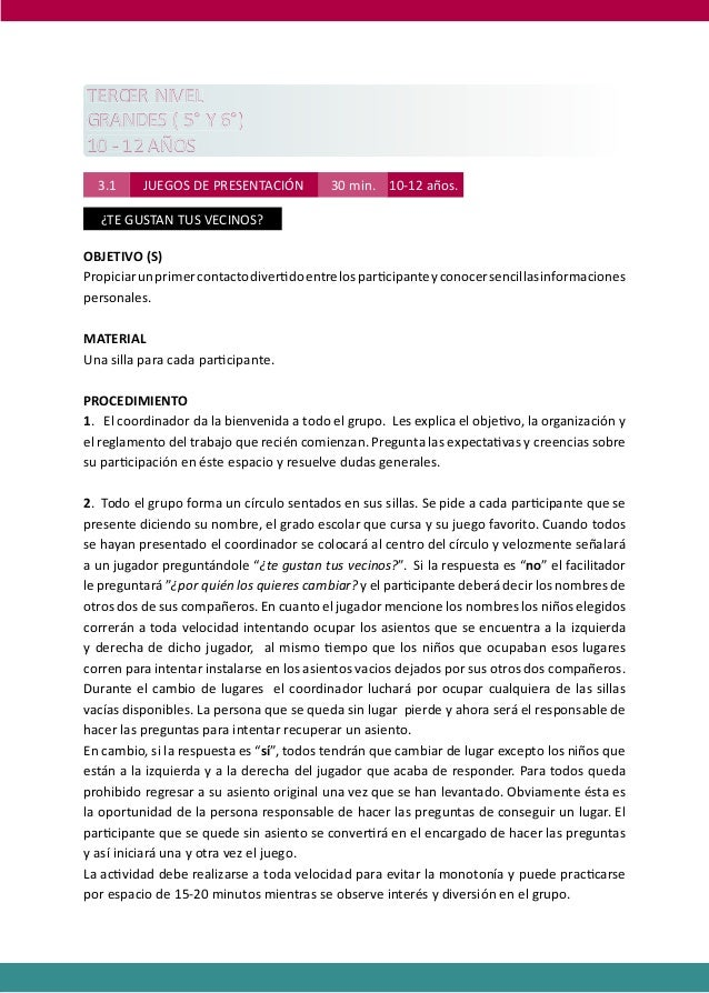 PROGRAMAS DE DESARROLLO SOCIAL/AFECTIVO PARA ALUMNOS CON PROBLEMAS DE CONDUCTA  TERCER NIVEL GRANDES ( 5° Y 6°) 10 - 12 AÑ...