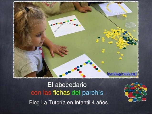 El abecedario con las fichas del parchís Blog La Tutoría en Infantil 4 años lourdesgiraldo.net