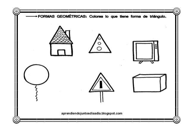Objetos Que Tengan Forma De Triángulo Para Colorear Imagui